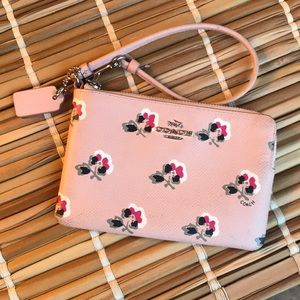 Coach Wallet/Wristlet Pink with Flowers